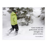 Perseverencia de Snowshoeing (postal)