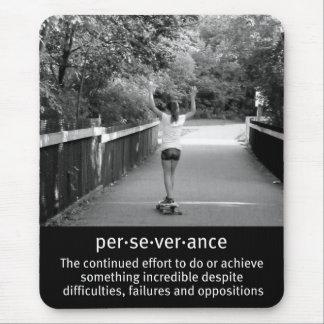 Perseverencia femenina de Longboard Mouse Pad