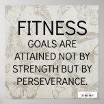 Perseverencia para el éxito de la aptitud impresiones