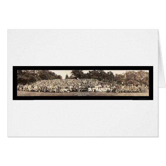 Pershing Family Reunion Photo 1923 Card
