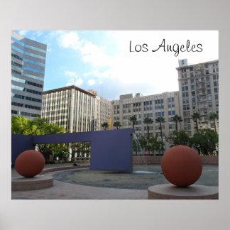Pershing Los Ángeles cuadrado Póster