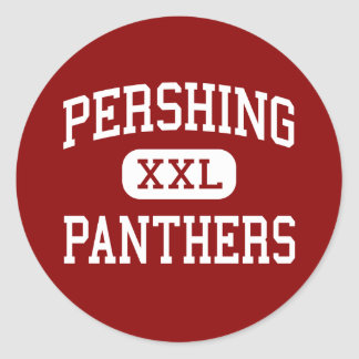 Pershing - Panthers - Middle - San Diego Round Stickers