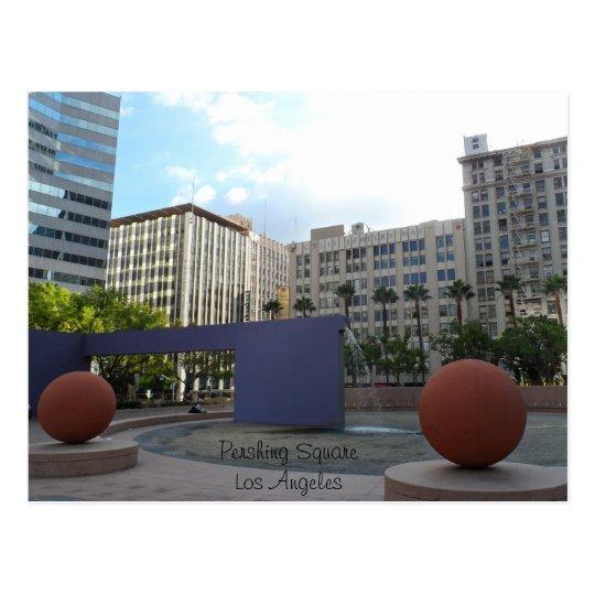 Pershing Square- Los Angeles Postcard