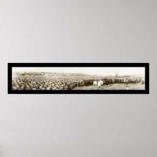 Pershing y foto 1919 de las tropas póster