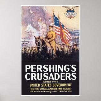 Pershing's Crusaders -- Border Poster