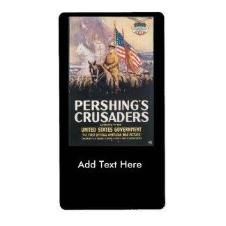 Pershings Crusaders World War II Label