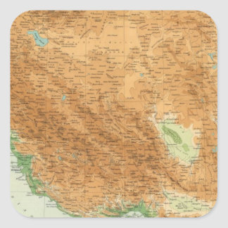 Persia 2 square sticker