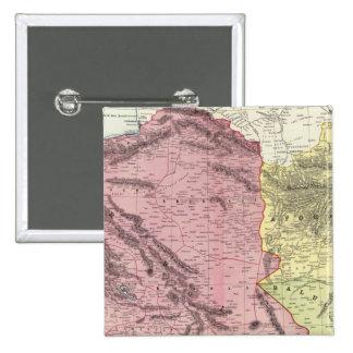 Persia, Afganistán, y Baluchistan Pin Cuadrada 5 Cm