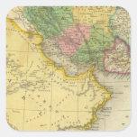 Persia Arabia Pegatina Cuadrada