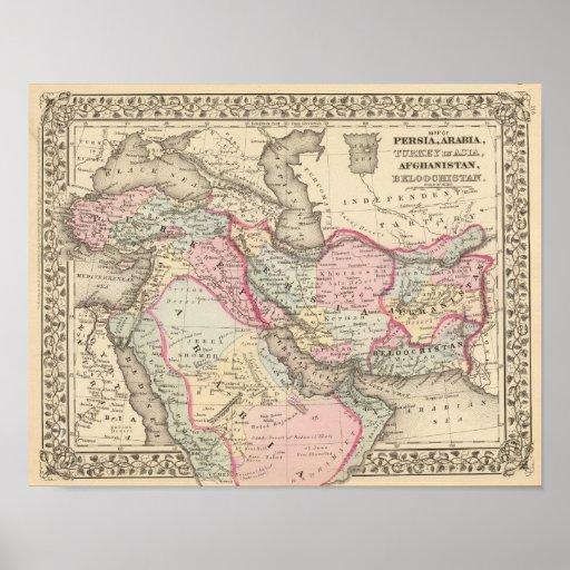 Persia, Arabia, Turkey, Afghanistan, Beloochistan Posters