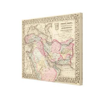 Persia, Arabia, Turquía, Afganistán, Beloochistan Impresión En Lienzo Estirada