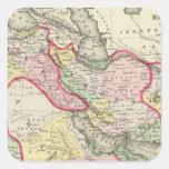 Persia, Arabia, Turquía, Afganistán, Beloochistan Pegatina Cuadrada