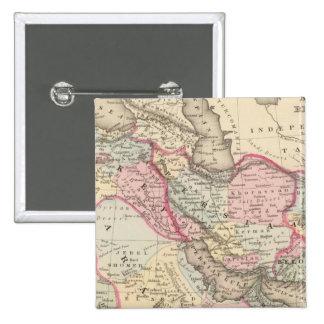 Persia, Arabia, Turquía, Afganistán, Beloochistan Pin Cuadrado