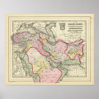 Persia, Arabia, Turquía, Afganistán, Beloochistan Póster