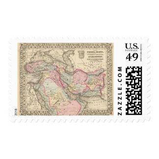 Persia, Arabia, Turquía, Afganistán, Beloochistan Sello Postal