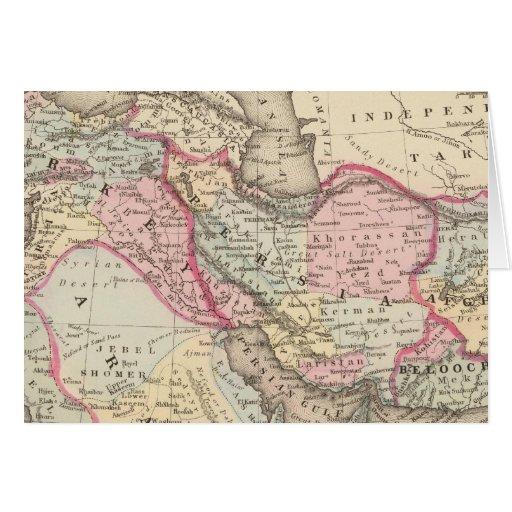 Persia, Arabia, Turquía, Afganistán, Beloochistan Tarjeta De Felicitación