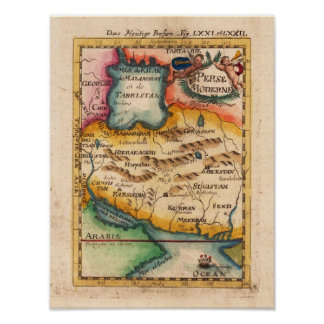 Persia Mallet Allain Manesson 1719 Reproduction Print