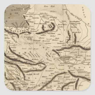 Persia Map by Arrowsmith Square Sticker