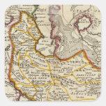 Persia, mar Caspio, parte de Tartary independiente Calcomanía Cuadradase