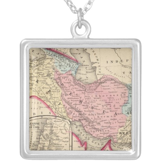 Persia, Turkey, Afghanistan, Beloochistan Silver Plated Necklace