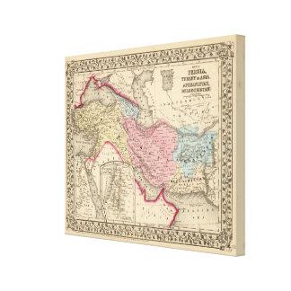 Persia, Turquía, Afganistán, Beloochistan Lienzo Envuelto Para Galerias