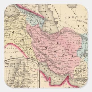 Persia, Turquía, Afganistán, Beloochistan Pegatina Cuadrada