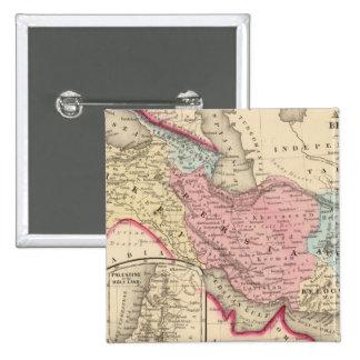 Persia, Turquía, Afganistán, Beloochistan Pin Cuadrado