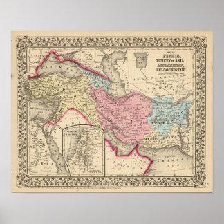 Persia, Turquía, Afganistán, Beloochistan Póster
