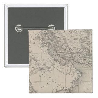 Persia y Arabia Pin Cuadrado
