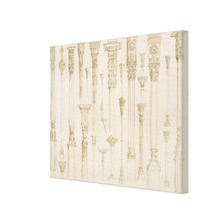 Persian and Turkish wooden column designs, from 'A Stretched Canvas Prints
