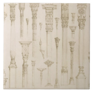 Persian and Turkish wooden column designs, from 'A Ceramic Tile