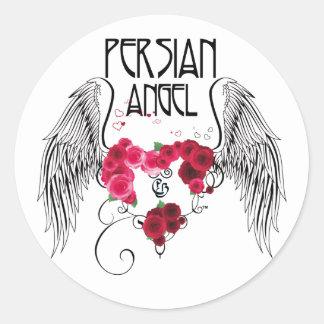 Persian Angel Round Sticker