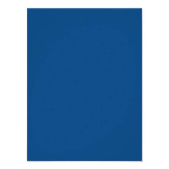 Persian Blue Personalized Trend Color Background Poster