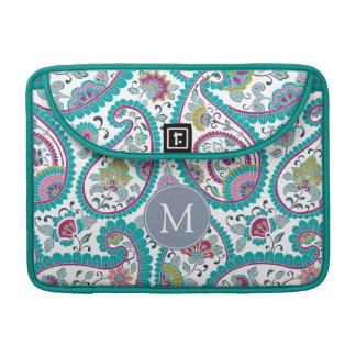 Persian Boteh Paisley Pattern Monogram Mac Sleeve