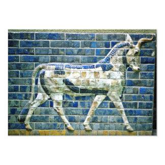 Persian Bull - Glazed Brick, Istanbul 5x7 Paper Invitation Card
