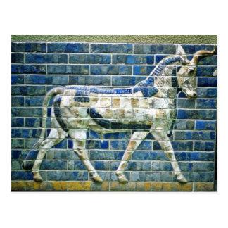 Persian Bull - Glazed Brick, Istanbul Postcard