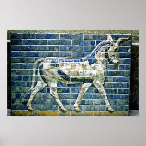 Persian Bull - Glazed Brick, Istanbul Poster