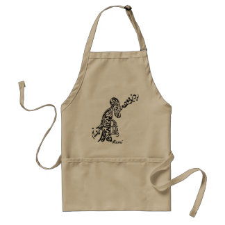 "Persian Calligraphy of Rumi Poem ""Old Man"" Adult Apron"