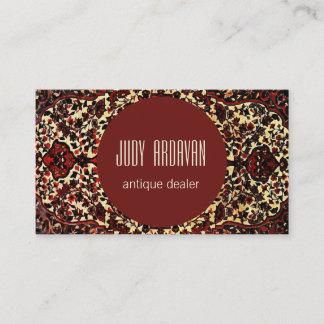 Persian carpet look - antique dealer business card