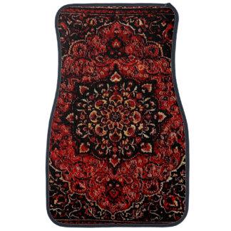Persian carpet look in rose tinted field car floor mat