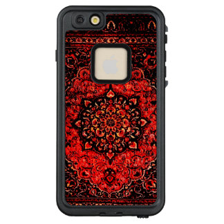 Persian carpet look in rose tinted field no2 LifeProof® FRĒ® iPhone 6/6s plus case