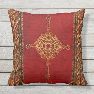 Persian carpet pattern throw pillow