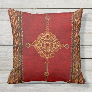 Persian Carpet Pattern Throw Pillow at Zazzle