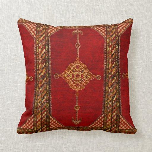 Persian Design Throw Pillows : Persian carpet pattern throw pillow Zazzle