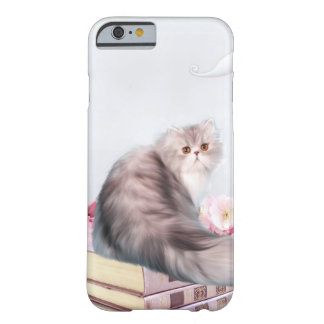 Persian cat and books iPhone 6 case