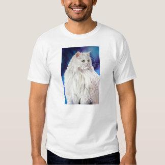 Persian Cat Art Portrait Tee Shirt