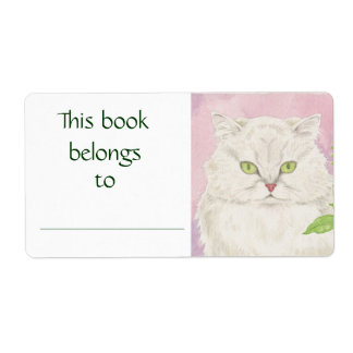 Persian Cat book label