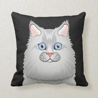 Persian Cat Cartoon Doll-Face Pillow