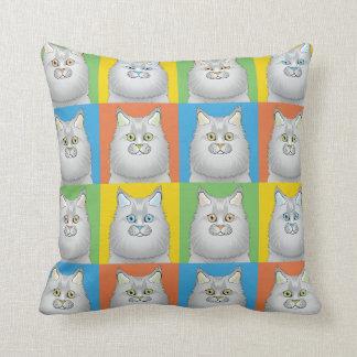 Persian Cat Cartoon Pop-Art Doll-Face Pillow