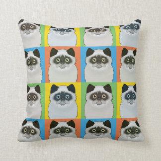 Persian Cat Cartoon Pop-Art Seal-Point Pillows